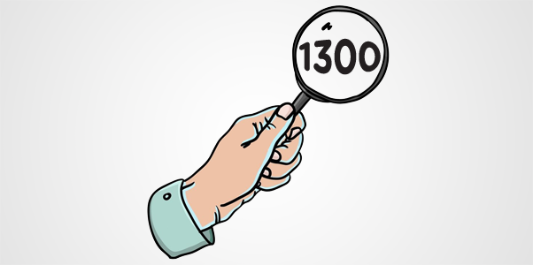 looking for 1300 number?